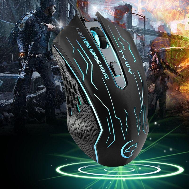 0c31f6869cf 2019 2019 New Mouse EasySMX G820 Optical Gaming Mouse 3200 DPI 6 ...