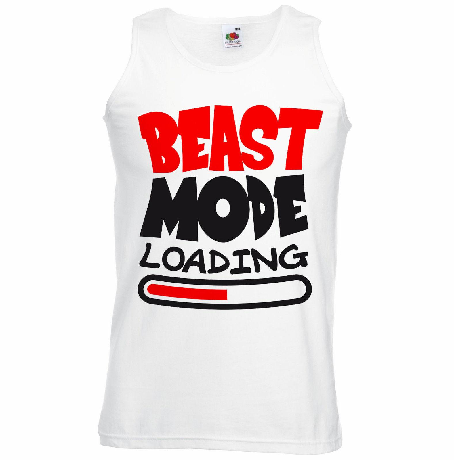 17cf4d1789bec Beast Mode Loading Tank Top Vest Muscles Bodybuilding Gym Fear Cosplay  Liverpoott Tshirt Worlds Funniest T Shirts Cool Tee Shirts Cheap From  Teecup