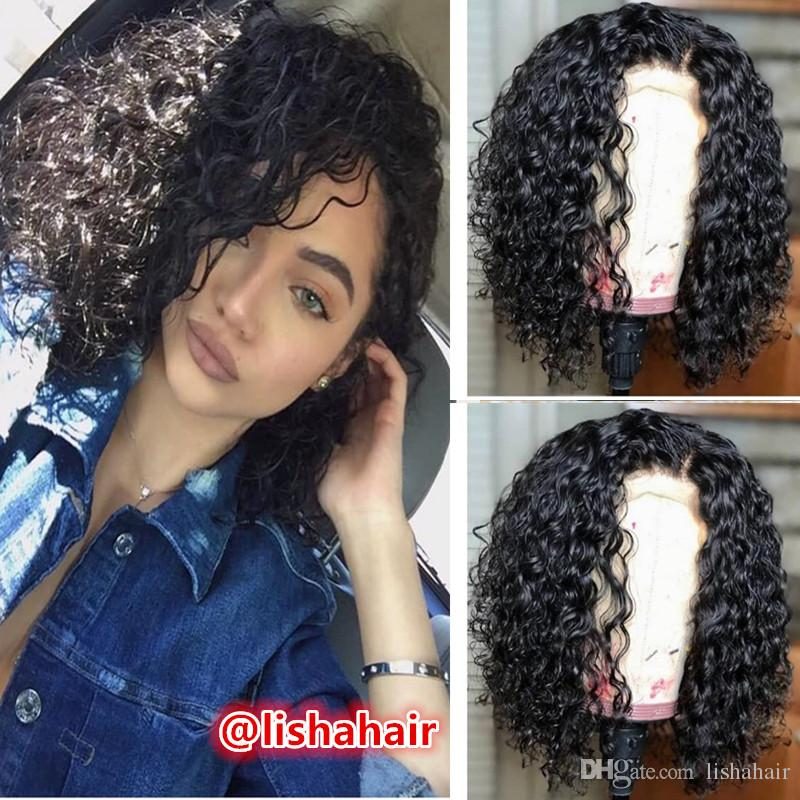Short Bob Lace Front Wigs Full Lace Wigs wet Wavy Baby Hair Brazilian Bleached Knots Unprocessed 100% Virgin Human Hair Baby Hair