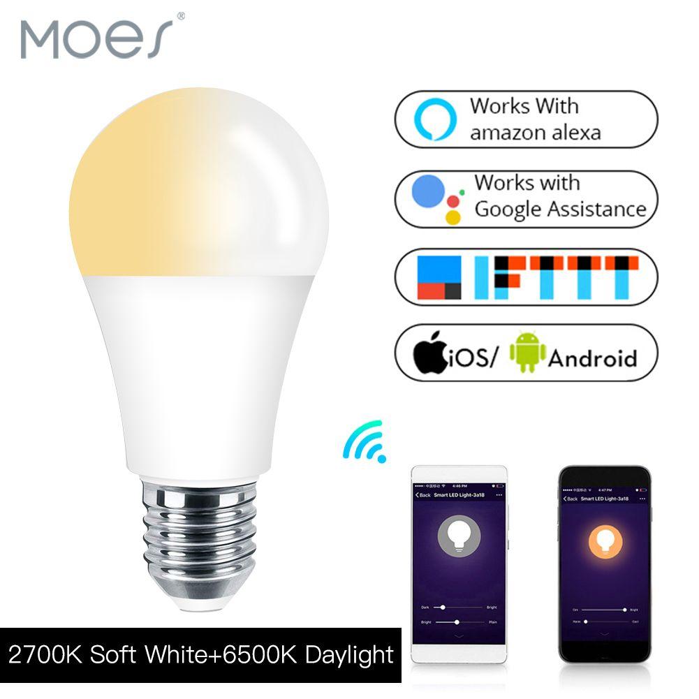 Wifi Light Bulb >> Wifi Smart Light Bulb Led Lamp 7w Warm Cool White Smart Life Tuya