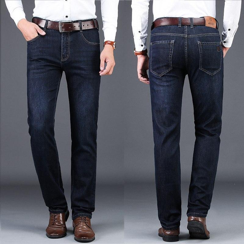 bc7bb4afdc53f Compre Pantalones Vaqueros De Marca Pantalones De Mezclilla Rectos Para  Hombre Pantalones Vaqueros Ligeros E Impermeables Para Hombres De Negocios  ...