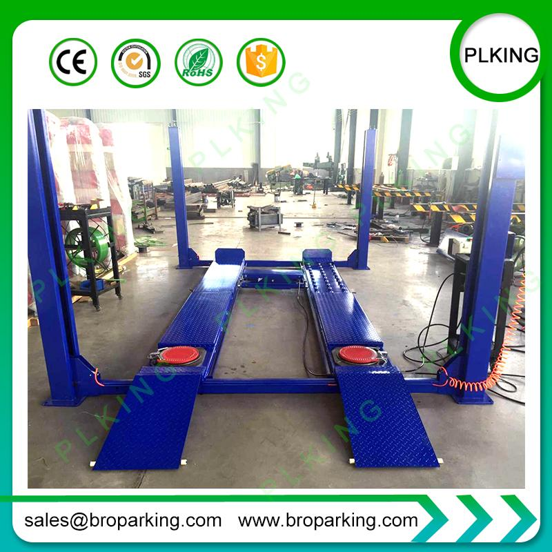 2019 Plking 4 Post Car Lift With Wheel Alignment Scissor Jack From