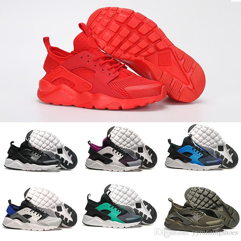 the latest 97263 91123 Acquista Nike Air Hurache Max Più Nuovo 2019 Air Huarache 4 IV Casual Scarpe  Uomo Donna, Nero Bianco Sneakers Di Alta Qualità Triple Huaraches Jogging  ...