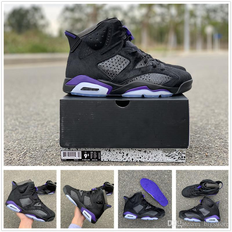 new style 60ffd 0eca6 Social Status x 6 Black Cat Original quality Social Status x Jumpman 6  Black Cat Purple Training Brand VI 6s 6 NRG 40-47.5 Original box