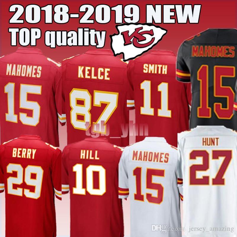c2fd1e82c0f55 2018 Kansas City Chiefs 15 Patrick Mahomes 29 Patrick Mahomes 87 Travis  Kelce Men'S Football Jerseys 2018 2019 NEW From Super_perfect_shops, $18.3  | DHgate.
