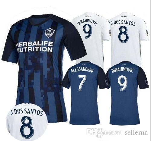 timeless design 15b1c 54745 Zlatan Ibrahimovic Soccer Jersey La Galaxy Ibrahimovic MLS 2018 Football  Galaxy Jersey Giovani Los Angeles Jersey Camisetas Shirt Maillot