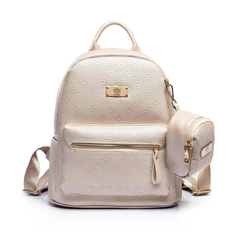 39fbff525f Summer Luxury 2019 Women Backpack With Purse Bag Female Pu Leather  Embossing High Quality School Bag For Teenages Travel Bag 309 Designer  Backpacks College ...
