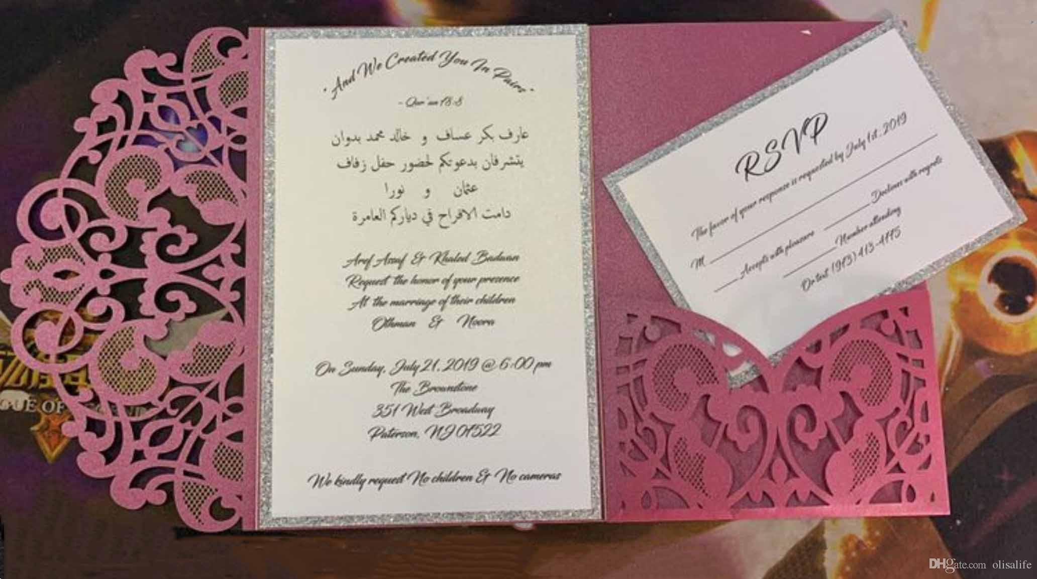 Real Made Invitation Fashion Laser Cut Invitation Suites Pattern