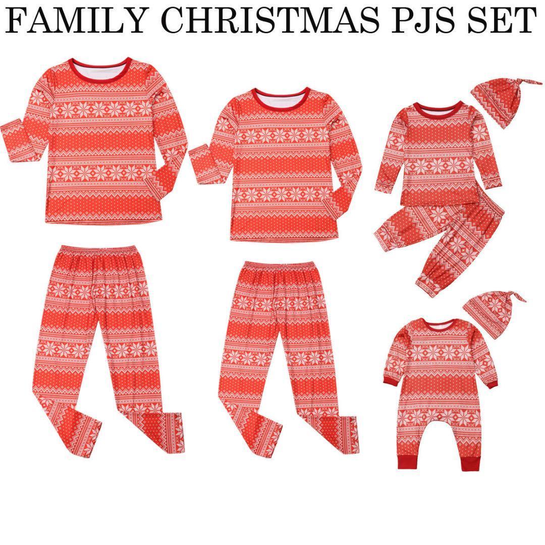 0f1d734445 2019 Christmas Family Pajamas Set Adult Women Kids Baby Long Sleeve Casual Snowflake  Sleepwear Nightwear From Baiyulanflo
