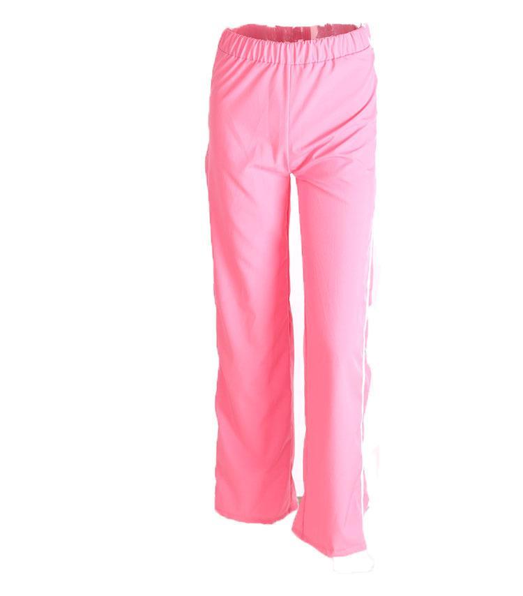 Summer Cut Loose Pantalón Negro Blanco Gris Verde Rosa remiendo pantalones de cintura alta Mujeres pierna ancha pantalones largos