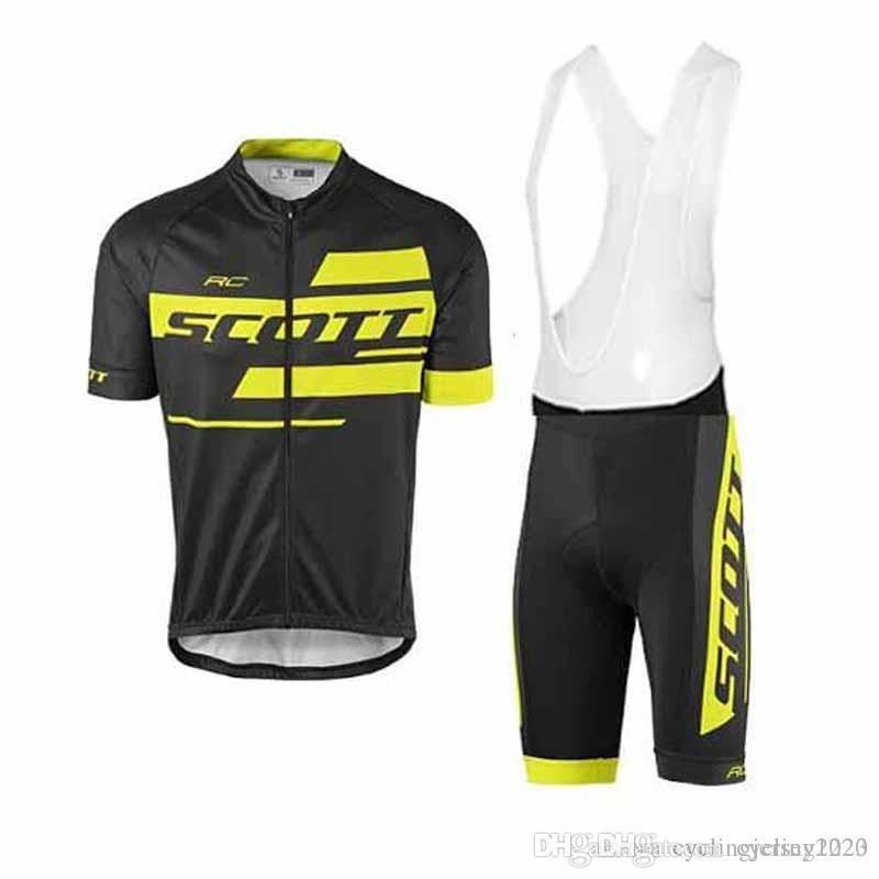 Clothing Tour de SCOTT pro team men summer breathable short sleeve cycling jersey bib shorts Set bicycle bike clothing sets