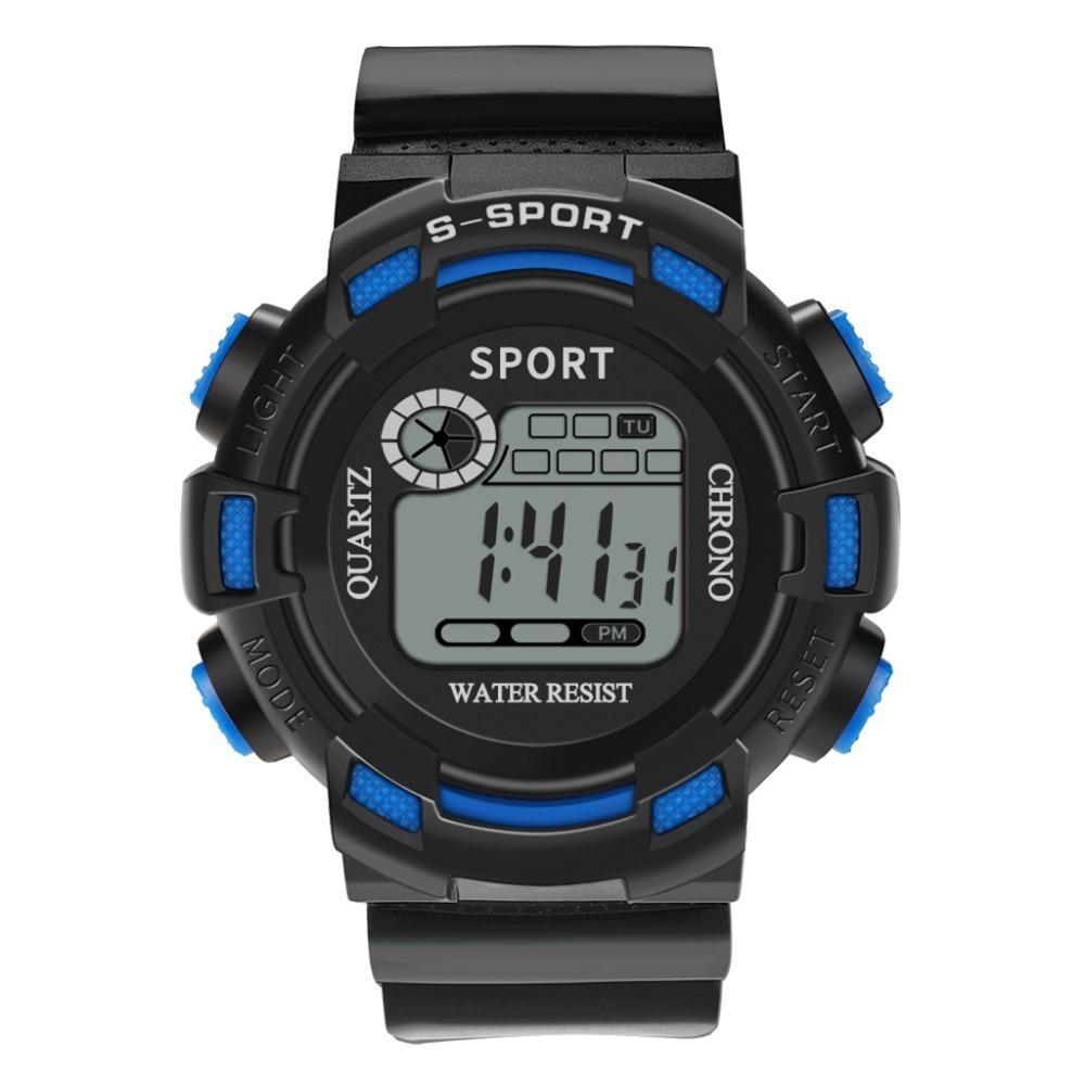 Luxury Men Analog Digital Military Army Sport Led Waterproof Wrist Watch Women Sport Watch Silicone Electronic Watch Waterproof Digital Watches Men's Watches