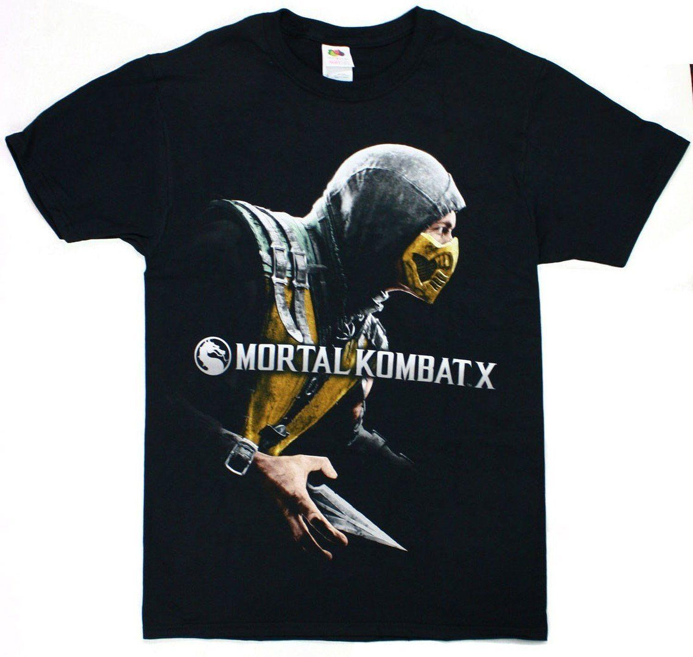 e40e1acba4c4 Mortal Kombat X 10 X Box Cover Scorpion T Shirt New Tee LicensedFunny  Unisex Casual Tshirt Cool Tee Shirts Designs Web T Shirts From  Colourfashion