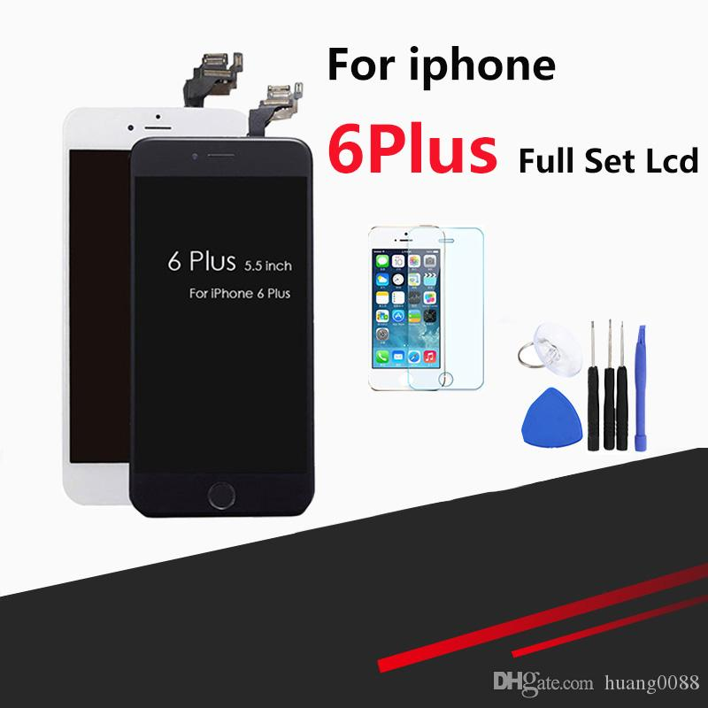 best website 50f8a 4f0f9 AAA Quality Display For iPhone 6 plus LCD Screen Assembly Touch Display  Screen Replacementwith screen digitizer and Home button front camera