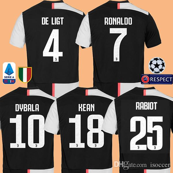 10e019af02 Compre Juventus RONALDO DE LIGT RABIOT DYBALA 19 20 Camisa De Futebol  Juventus Camisa De Futebol MANDZUKIC CHIELLINI Camiseta De Fútbol 2019 2020  ...