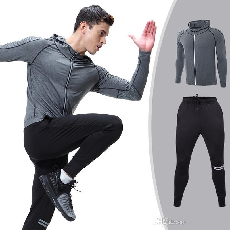 d741658cf266 Acquista Abbigliamento Sportivo Da Uomo Tute Da Gara 2 Pezzi Abbigliamento  Da Corsa Tuta Da Allenamento Tuta Da Lavoro Sportiva Tuta Sportiva Costumi  ...