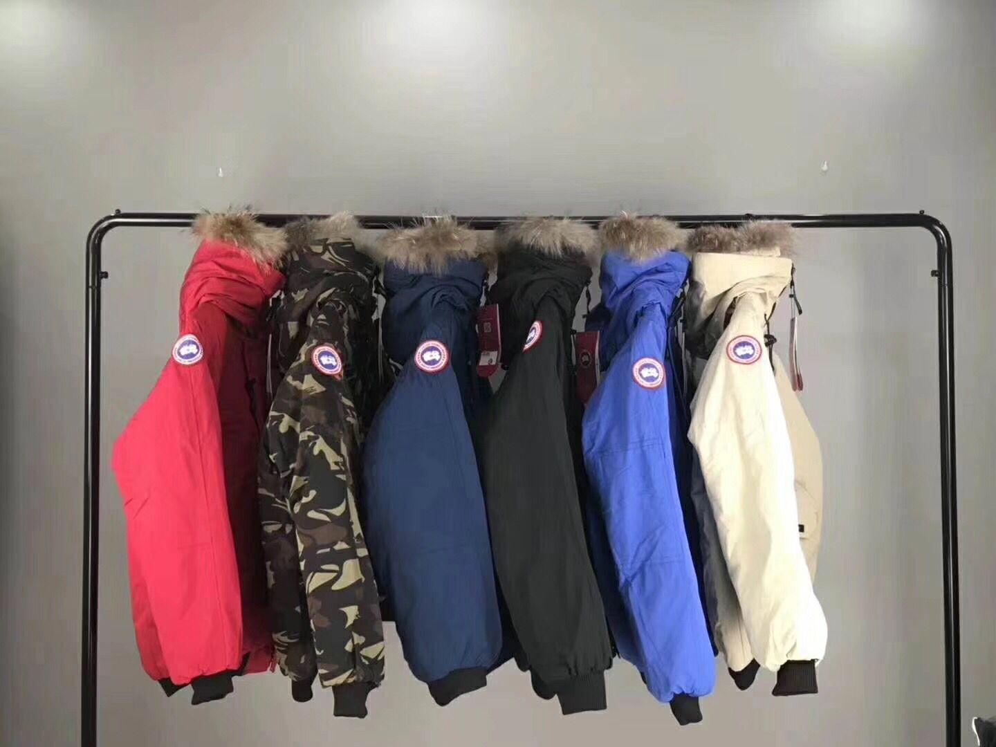 2019 Hot sell CANADA GO0SE Winter Down Langfords Parkas Brand Designers Men Warm Fur Hoody Jackets Canada Man Clothing Plus Size