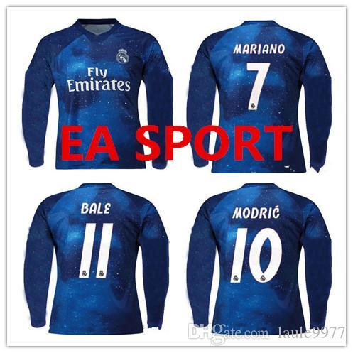 753cadc5 Real Madrid 18 19 EA Sports Digital INSANE Manga Larga FÚTBOL JERSEY ISCO 2018  2019 Paca MARCELO BENZEMA Especial Camisetas De Fútbol Sobresalientes Por  ...