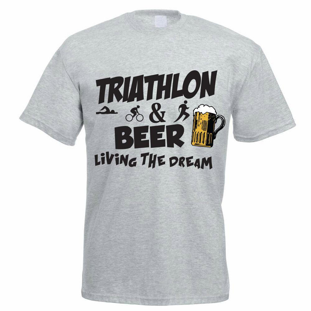 b427ddc0 TRIATHLON AND BEER Triathlete / Father'S Day / Funny Gift Idea Mens T Shirt  Cheap Wholesale Tees,100% Cotton For Man,T Shirt Printing Designs For T  Shirts ...