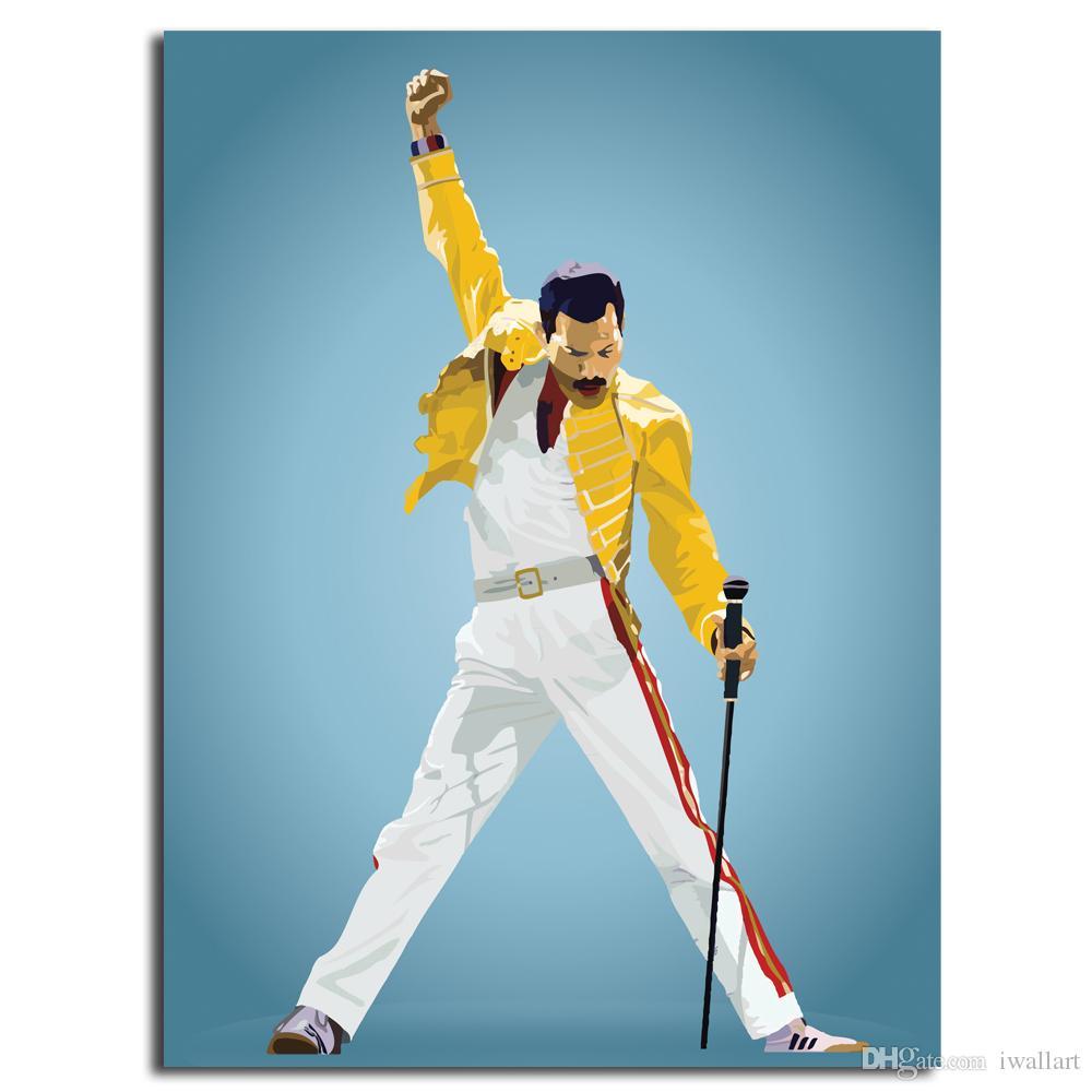 2019 Freddie Mercury Queen Glossy Hd Poster Canvas