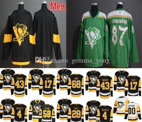 new products 93a6b 6c8fb 2019 Stadium Series Pittsburgh Penguins St. Patrick s Day Jerseys Green 6  Jamie Oleksiak 1 Casey DeSmith 2 Chad Ruhwedel 12 Dominik Simon