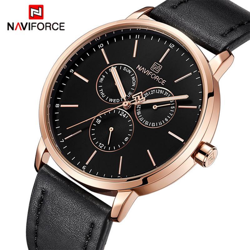 543fdee3b8b Compre NAVIFORCE Nova Moda Relógios Mens Top Marca De Luxo Dos Homens De  Quartzo Data Relógio De Negócios À Prova D  Água Relógio De Pulso Relogio  Masculino ...