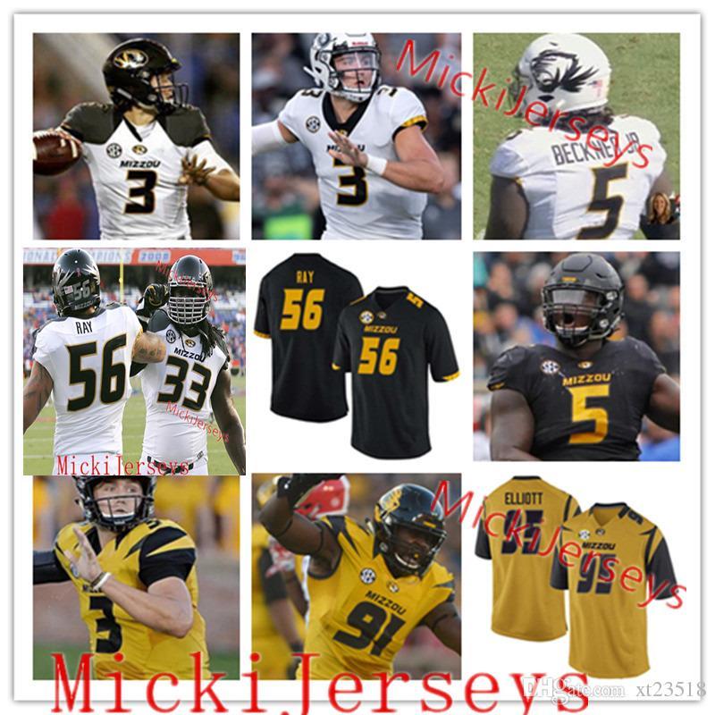best loved 10f65 dbc2c Missouri Tigers Football Jersey Terry Beckner Drew Lock Shane Ray EJ.  Gaines Emanuel Hall Blaine Gabbert Roger Wehrli Kellen Winslow Jersey