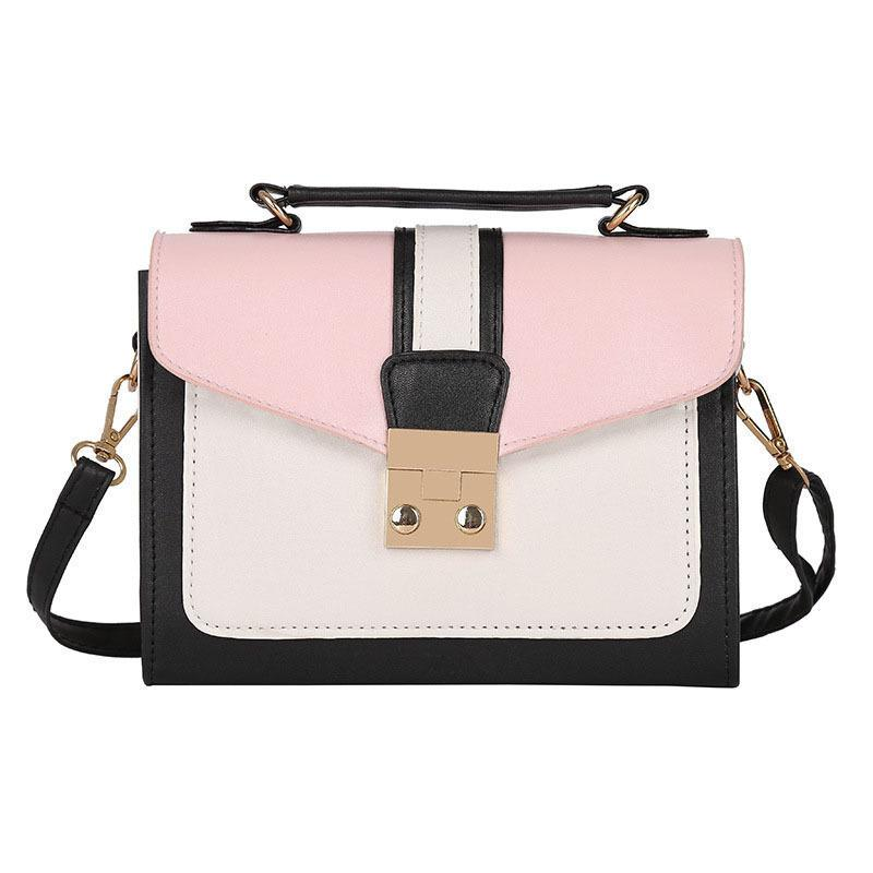 good quality Luxury Handbags Women Shoudlder Bags Pu Patchwork Color Designer 2019 For Teenager Small Messenger Bags Bolsas