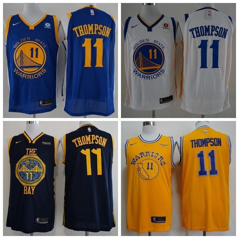 bbd39b229b45 2019 2019 Earned Mens  11 Golden Klay States Warriors Thompson Edition  Basketball Jerseys Klay City Cheap Thompson Edition Stitched Shirts S XXXL  From ...