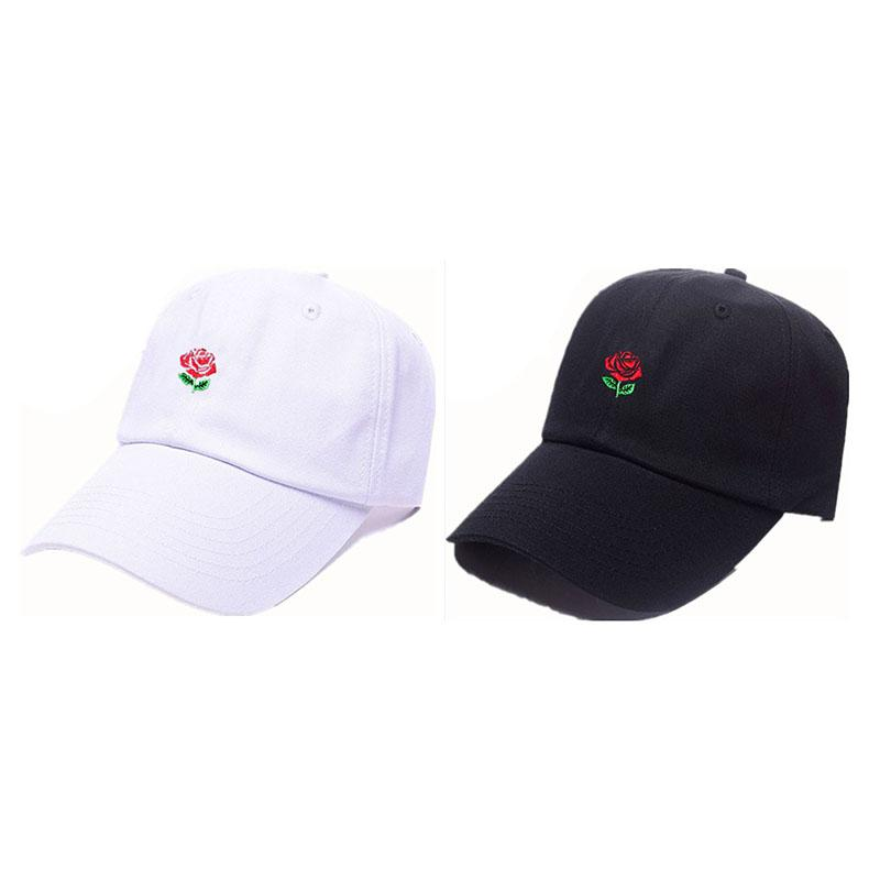 f2fd5f710 2pcs/set Rose Flower Baseball Hat Embroidered Dad Cap Love Romance  Valentines Best Friends Friendship Distance Lovers Couple