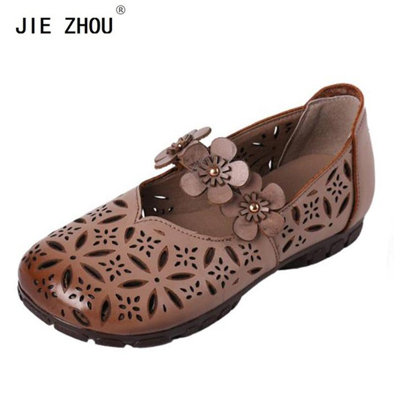 983a7dc62aa4 Women Sandals Summer Casual Women Shoes Genuine Leather Ladies Flat Soft  Flowers Sandals Handmade Woman Sandal Fashion Shoes Shoes For Sale From  Sunace
