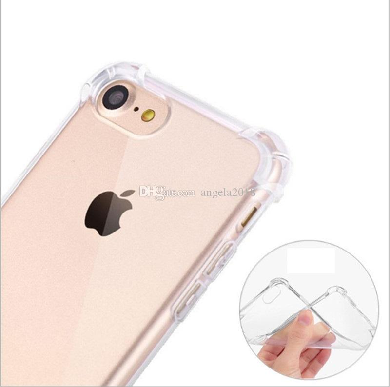 Shockproof Transparent Case for iPhone XS MAX XR X 6 7 8 Soft TPU Clear Back Cover for Samsung S9 S8 Plus