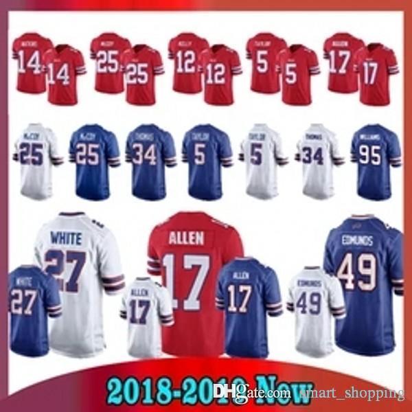 7ef1797406f Buffalo Jersey 17 Josh Allen Bills 12 Jim Kelly 49 Tremaine Edmunds ...