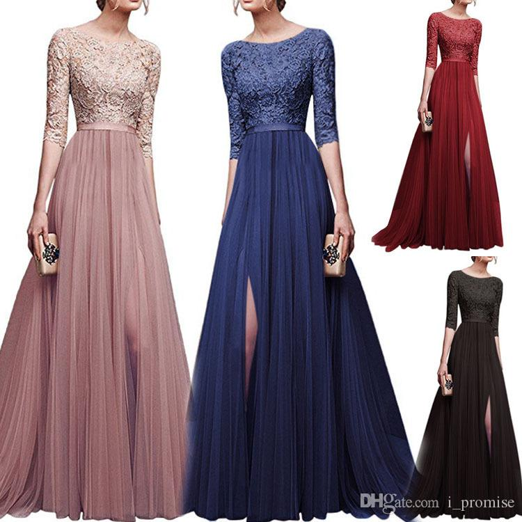 e94e043f3a Long Party Prom Dresses Sexy Chiffon Maids Of Honor Bridesmaids ...