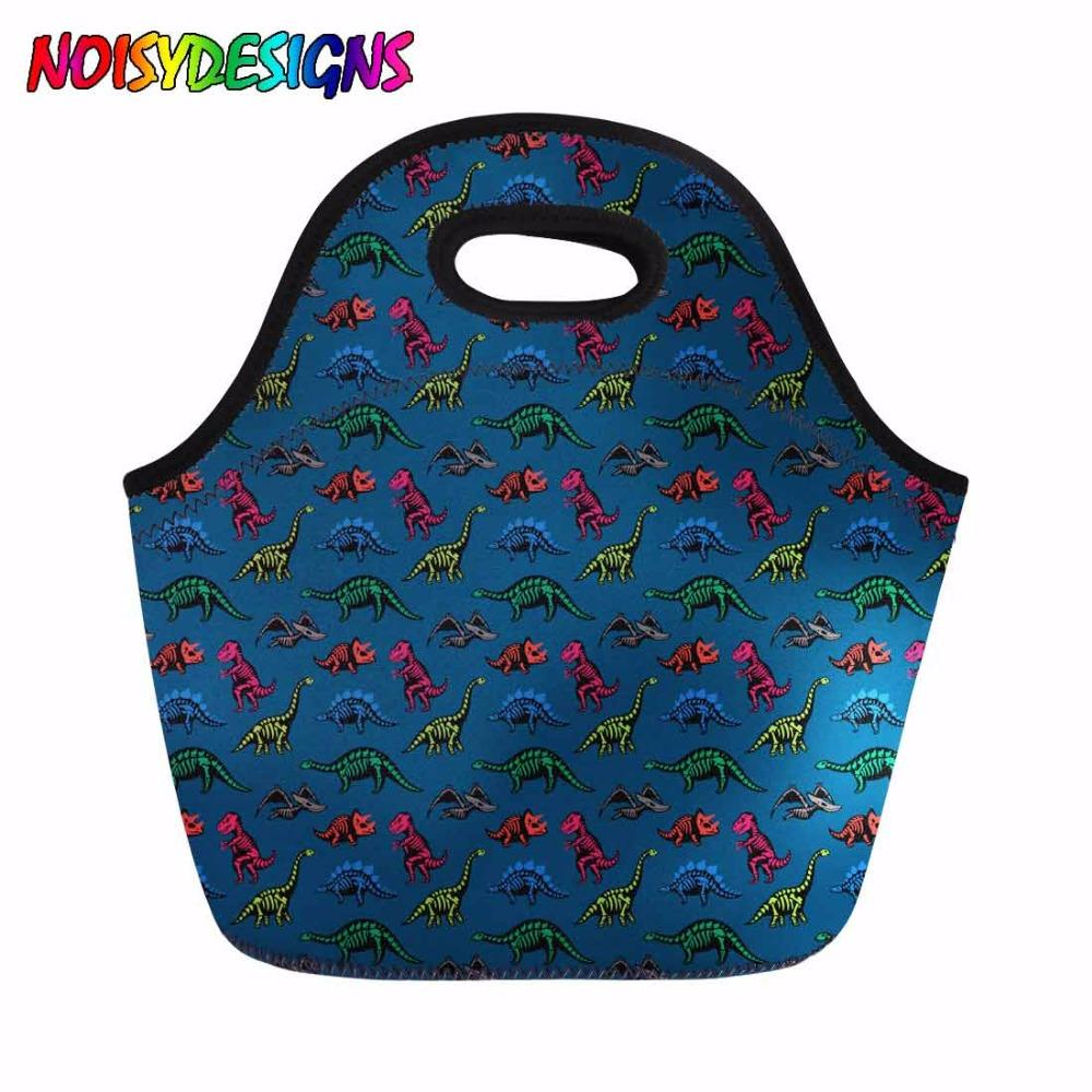 Women Thermal Cooler Lunch Bag Animals Dinosaurs Pattern Hand Tote Lady Picnic Travel Meal Bags Storage mochilas infantil