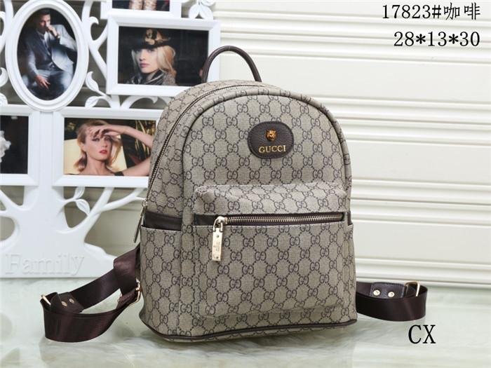 3048563efb26 2019 GUC Zwj CI Top Quality Fashion Backpack Men Women Leather Bags New  Famous Brand Designer Back Packs Bag Embroidered Backpacks Ladies Bags From  Jiuaini