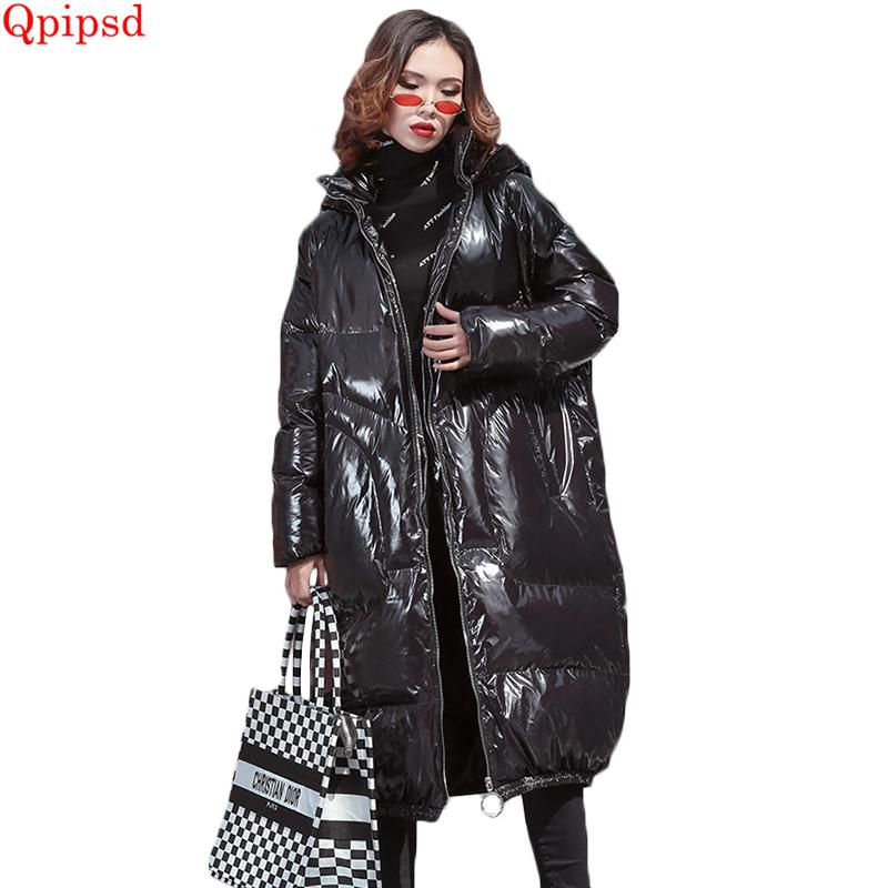 abd98e5642f 2019 2019 Winter Large Size Loose Down Jacket Coats Women New Glossy Hooded  Cotton Padded Parkas Female Thicken Warm Down Parkas Coat From Berniceone,  ...