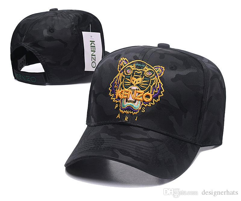 be3d7871005 Designer Baseball Caps New Brand Tiger Head Black With Gold Logo Hats Gold  Embroidered Bone Men Women Casquette Sun Hat Gorras Sports Cap Trucker Hat  ...