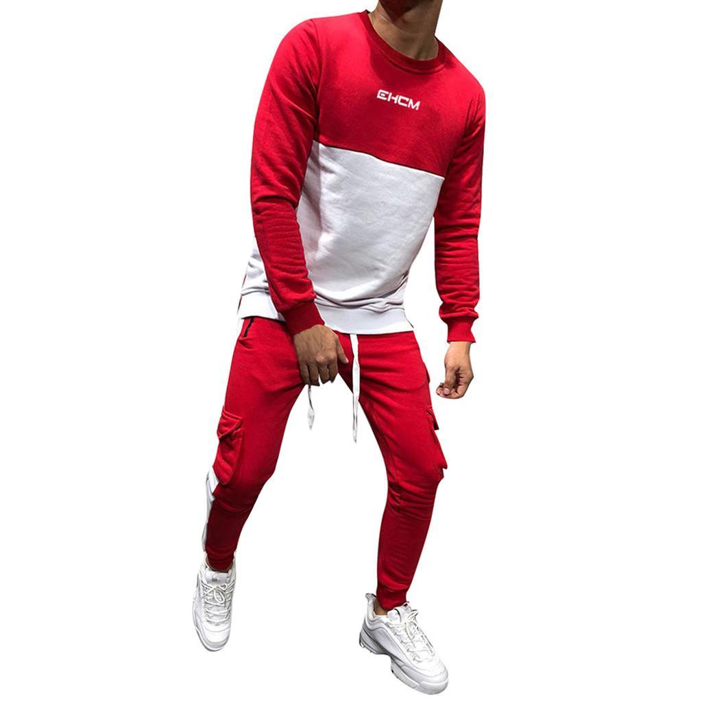 f6ea19e2f Compre YOUYEDIAN 2019 Hombres Otoño Invierno Espesar Sudadera Top  Pantalones Conjuntos Traje Deportivo Chándal Nueva Llegada A  37.56 Del  Michalle