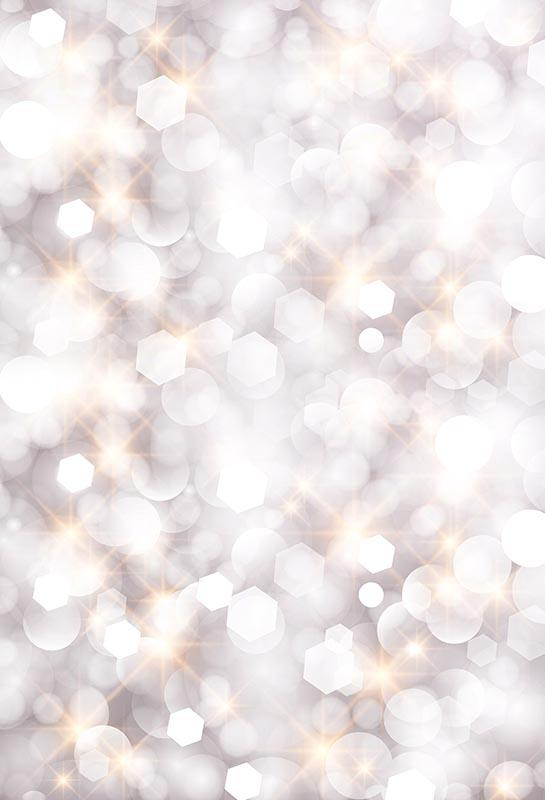 5x7FT Argent Bokeh Spots Diamonds Étincelle Fonds personnalisés Photo Studio Backdrop Vinyle 150cm x 220cm