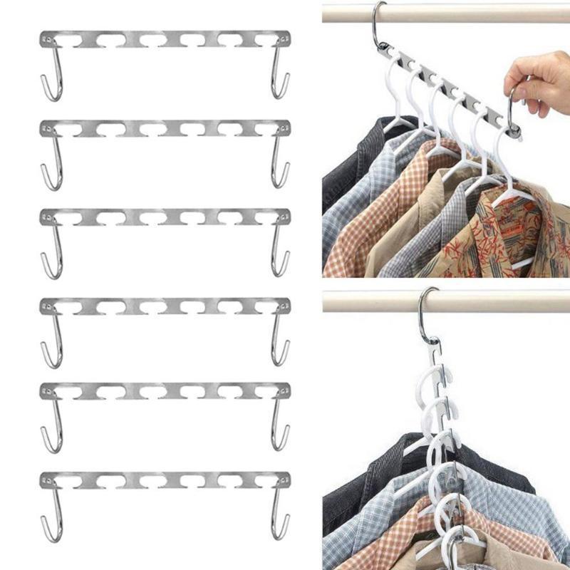 2pcs Half Toroidal Universal Metal Clothes Closet Hangers Shirts Tidy Hangers Save Space Clothing Organizer Practical Racks