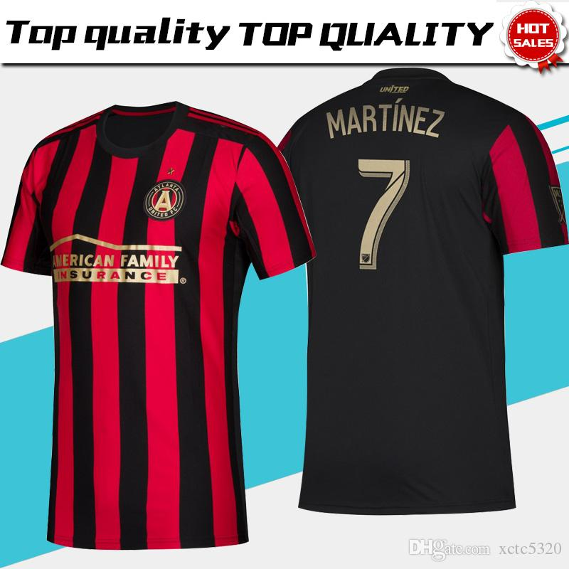 wholesale dealer 42970 80c04 2019 MLS Atlanta United FC Soccer Jerseys #10 G.MARTINEZ #7 MARTINEZ  Atlanta United FC Home red black Soccer Shirt 2019 Football Uniform