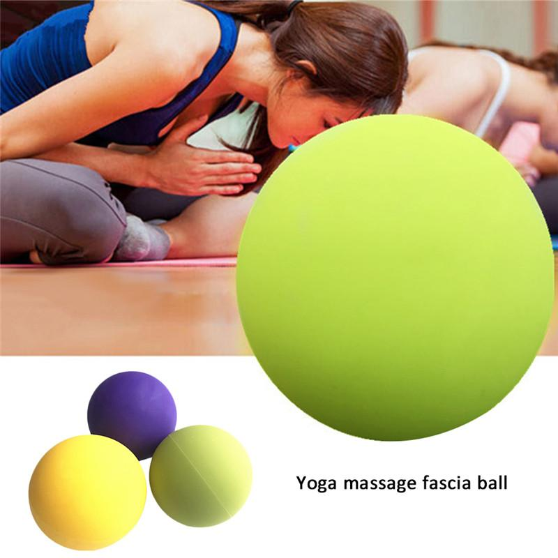 1Pc Silicone Yoga Massage Ball Pain Stress Relief Trigger Point Therapy For Muscle Knot Fitness Yoga Lacrosse Balls