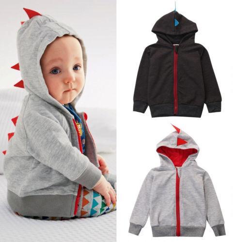 8469ba02a 2019 Brand New Funny Autumn Winter Toddler Baby Boys Coat Long ...