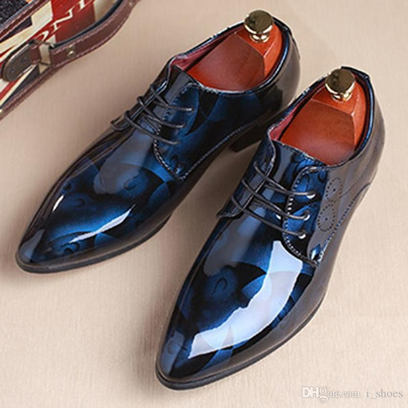 658e3f0ec0f Men Dress Shoes Leather Luxury Breathable Fashion Groom Wedding Shoes Men  Oxford Business Plus Size 38 48 PA919508  7783 Shoe Boots Sexy Shoes From  I shoes