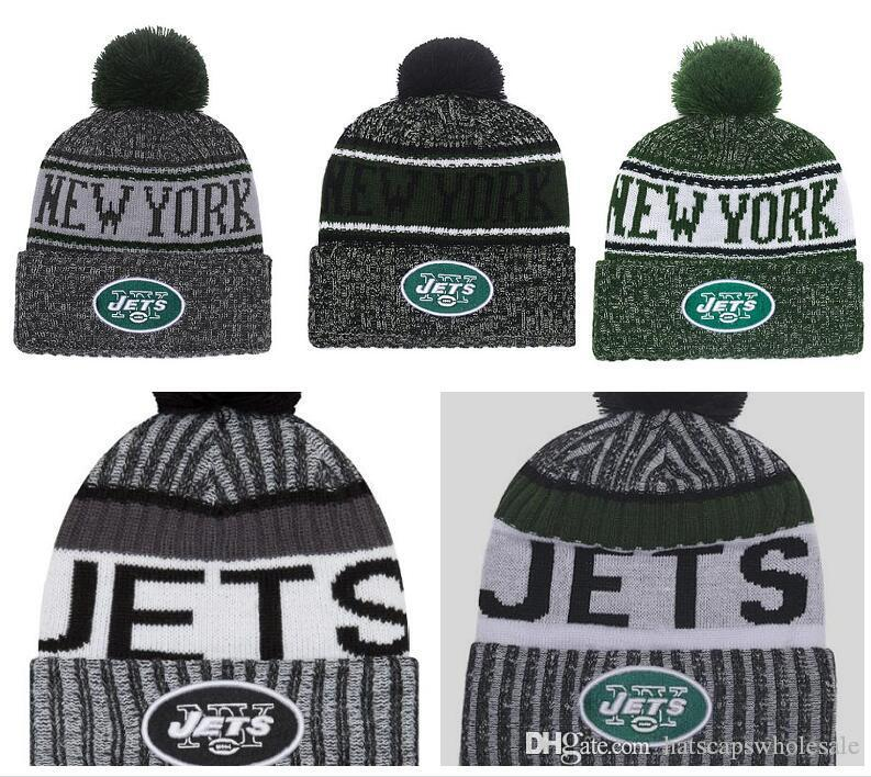 a5b409ba6f2cf5 2019 2019 Fashion New York Jets Winter Cuffed Knit Hats For Men Women  Unisex Adults Wool Skullies Hat Beanies Casual Warm Caps From  Hatscapswholesale, ...