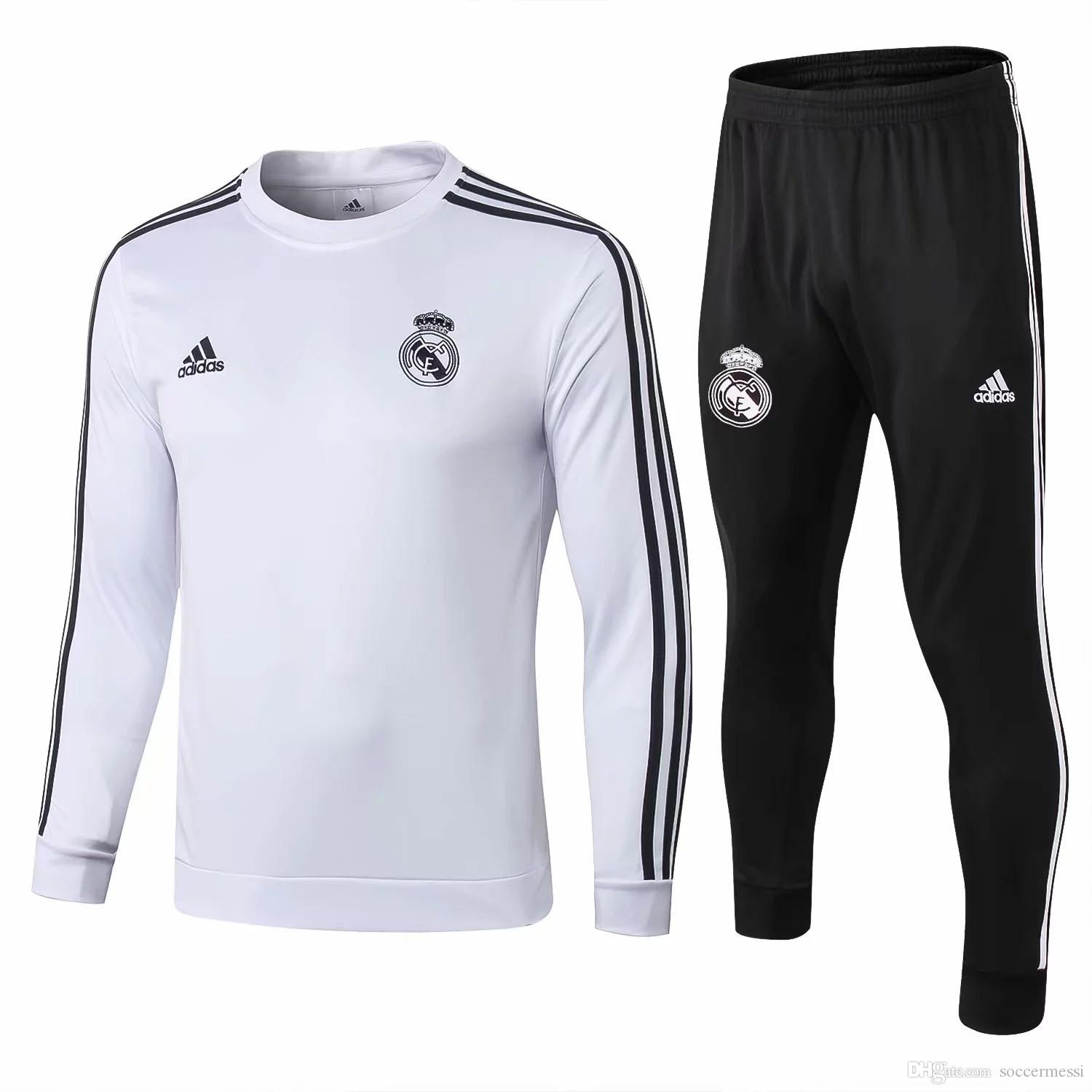 new concept 5f776 ba0e7 Best-selling new Real Madrid jerseys No. 9 Benzema home and away training  suit 2018 2019 football uniform Modric competition training suit