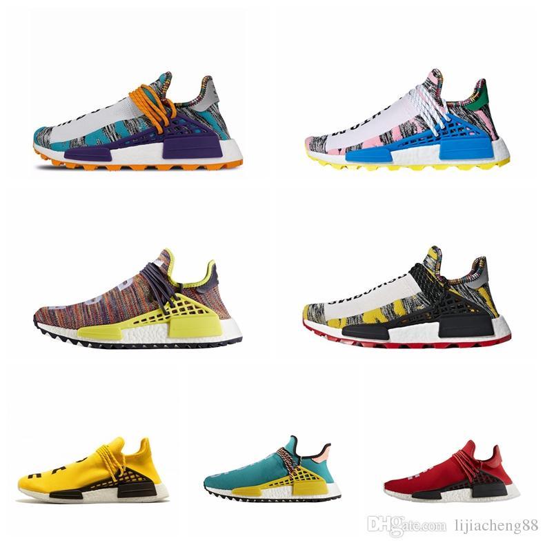 promo code d8c36 9b5f4 2019 NMD Human Race Pharrell Williams X BBC Yellow Black Nerd Sports  Running Shoes designer Men Shoes Women sneakers us5-us11.5