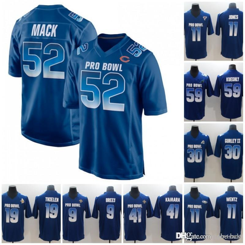 2019 2019 Pro Bowl NFC 9 Drew Brees 16 Jared Goff 12 Aaron Rodgers 30 Todd  Gurley 4 Ezekiel Elliott 26 Saquon Barkley Royal Blue Jersey From Tobe  Best c3b71cff2