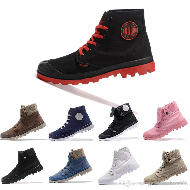 dfcdad6a22 Mens Designer Shoes PALLADIUM Pallabrouse Men High Army Military Ankle Mens  Women Boots Canvas Sneakers Casual Shoe Man Anti Slip Sneaker Wellies Boots  For ...